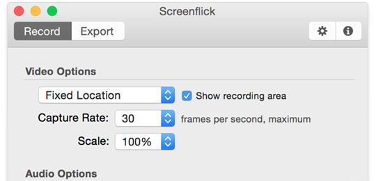 Screenflick Mac Screen Recorder Screenshot