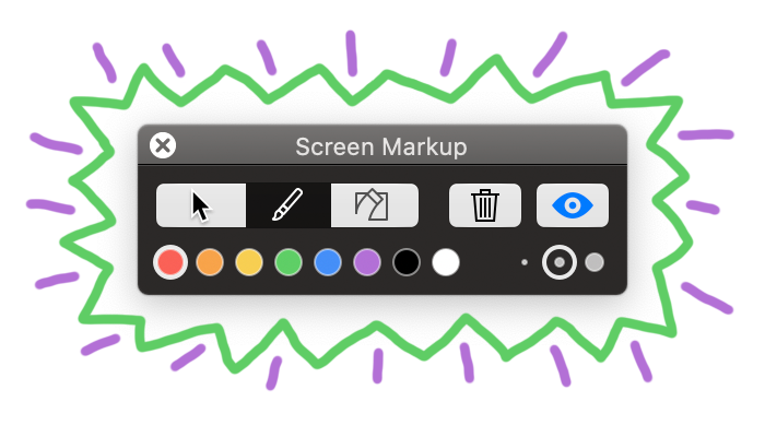 Draw on your Mac's screen when screen recording with Screenflick.
