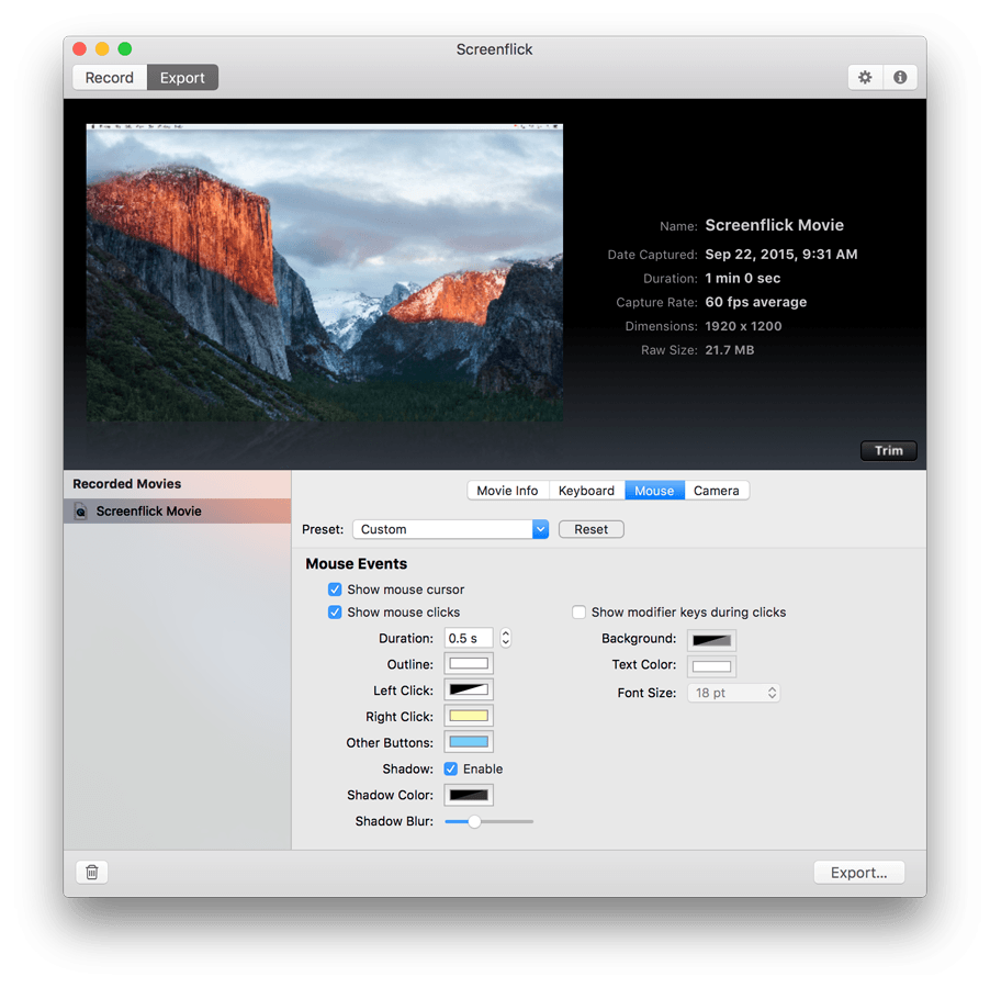 Screenflick fast screen recorder for mac os x ccuart Gallery