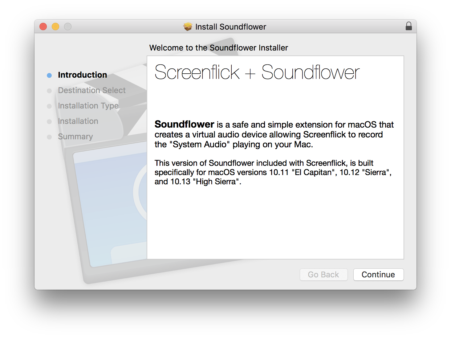 Screenflick Support – Installing Soundflower on macOS